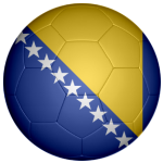 Bosnia and Herzegovina Football Flag 25mm Flat Back